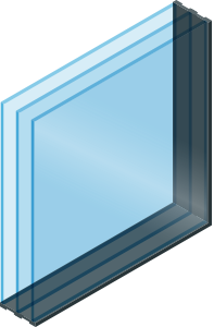Triple pane window
